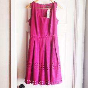 Brixon Ivy James Laser Cut Midi Dress Pink Small